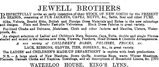 1883 Oct 20th Jewell Bros