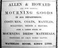 1901 Jan 25th Allen & Howard mourning for Queen Victoria