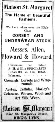 1928 Oct 19th Allen Howard & Howards stock taken over