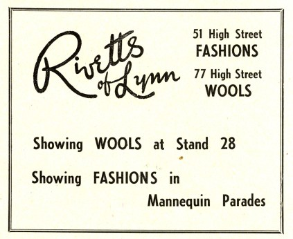 1955 Aug 24to31 Trades Exhib prog Rivetts