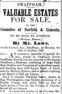 1847 Oct 9th George Laws auction sale