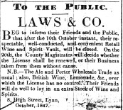 1847 Oct 9th George Laws