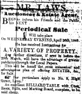 1848 March 25th G Laws auctioneer