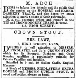 1868 March 28th Mrs LAWS @ No 8