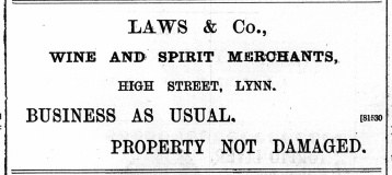 1897 Dec 31st Laws & Co @ No 8