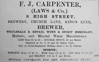1902 Dec 5th F J Carpenter Laws & Co