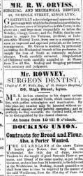 1854 June 10th Mr Rowney @ No 80