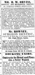 1854 June 10th Mr Rowney @ No 80