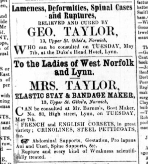 1861 May 4th Mrs Taylor from Norwich @ Mr Barnes @ No 80