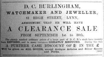 1900 Aug 31st D C Burlingham sale @ 81