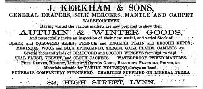 1869 Jan 9th J Kerkham & Sons