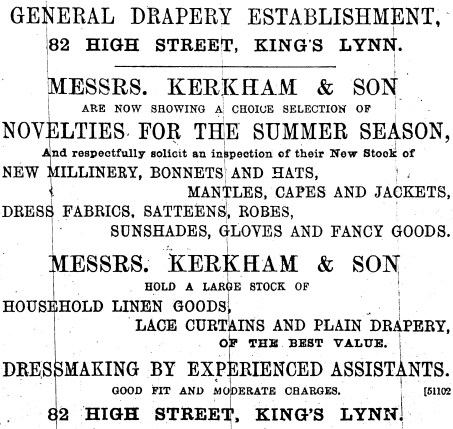 1892 May 7th Kerkham & Son 82