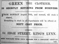 1903 Aug 7th Green retires