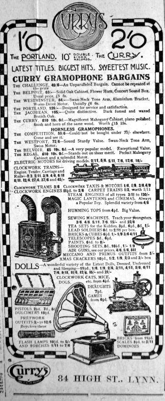 1921 Dec 23rd Currys