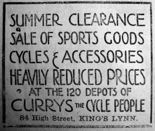 1923 Aug 17th Currys sale