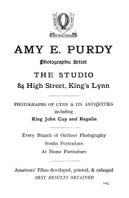 1924 Amy Purdy (Holcombe Ingleby Treasures of Lynn)