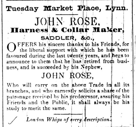 1843 March 28th John Rose