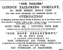 1889 Feb 16th London Tailoring Co 85