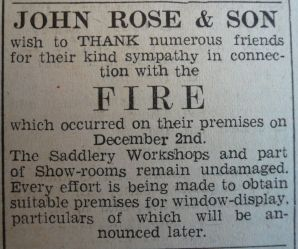 1940 Dec 6th John Rose & Son fire