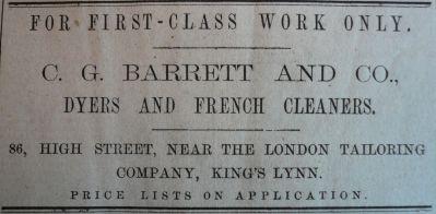 1890 Feb 1st C G Barrett & Co