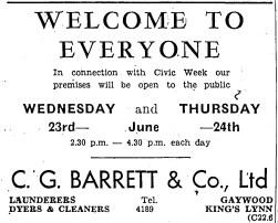 1948 22nd June CIVIC week Barrets