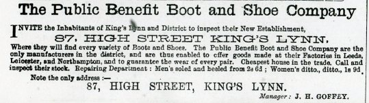 1882 21st OctPublic Benefit Boot Co @ No 87