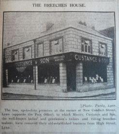 1926 Apr 23rd Custance & Sons new shop