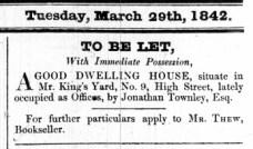 1842 March 29th ex Townley @ No 9