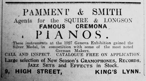 1927 Oct 7th Pamment & Smith