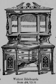 1915 Scotts catalogue (P9 walnut sideboard)