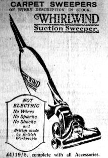 1926 Feb 19th Scott & Son Whirlwind suction sweeper