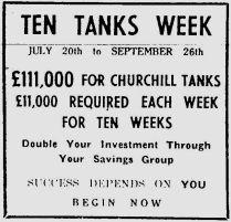 1942 August 4th Ten Tanks Week