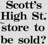 1969 Nov 25th Scotts to be sold