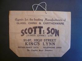 1971 Scott & Son carrier bag