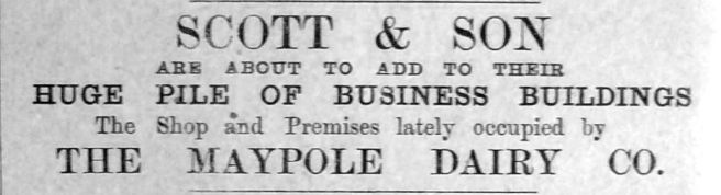 1910 July 15th Scott & Sons huge pile Maypole