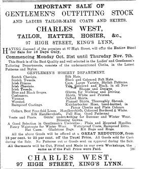 1901 No 97 High St sale 18.10.1901