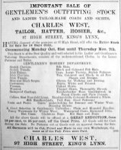 1901 Oct 18th Charles West sells up