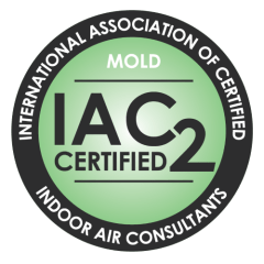 INTERNATIONAL ASSOCIATION OF CERTIFIED INDOOR AIR CONSULTANTS (IAC2) LOGO. KINGSMEN HOME INSPECTION SERVICES ARE IAC2 MEMBERS