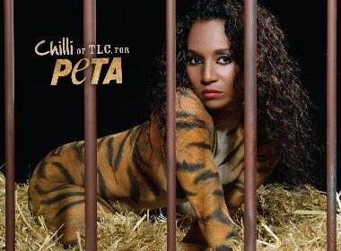 TLC'S CHILLI STRIPS TO STRIPES FOR PETA'S NEW ANTI-CIRCUS CAMPAIGN