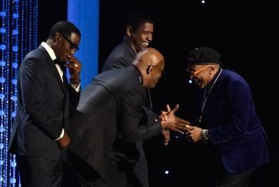 Samuel L. Jackson, Denzel Washington and Wesley Snipes honor Spike Lee at the 2015 Governors Awards