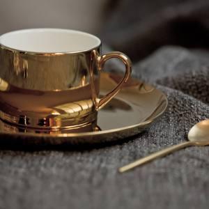北歐風,咖啡杯子,時尚盤子,時尚杯子,漂亮盤子,韓風ins,傢俱,家飾,金色咖啡杯,金色瓷盤