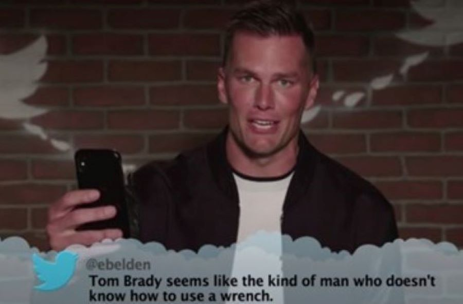 Video: Tom Brady Was Dealt Some Hilarious Mean Tweets On The Latest Jimmy Kimmel Show