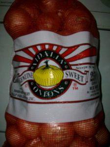 25 lb bag of Vidalia onions