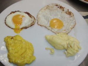 Home grown vs. commercial 'natural' eggs