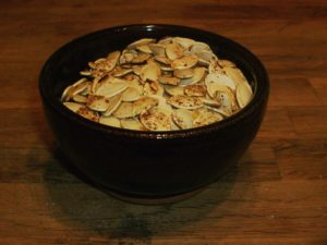 Roasted, Seasoned Pumpkin Seeds