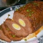 Egg inside meatloaf