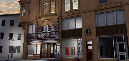 Kings Theatre Kirkcaldy facade - 3D visualisation