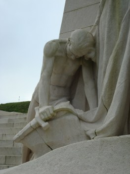 """Breaking of the Sword"" statue at Vimy Ridge"