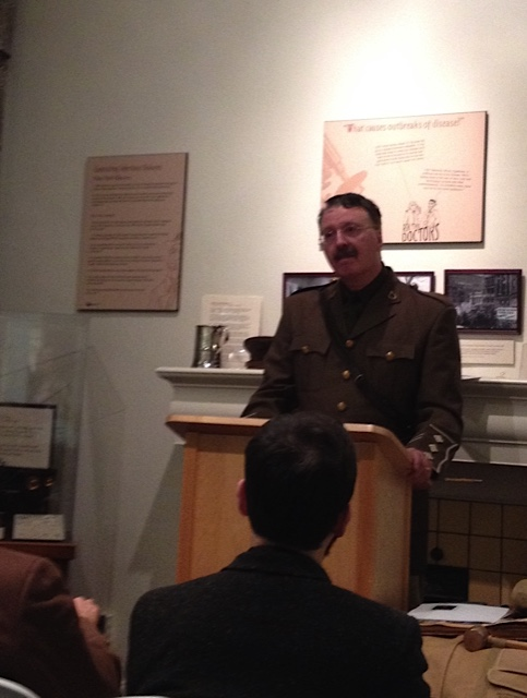 Dr. Baran speaking at the Museum of Health Care at Kingston