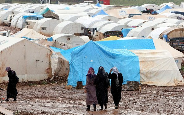 The Atmeh camp on April 18, 2013, in Darkoush, Syria. Esa Alexander/Sunday Times/Gallo Images/Getty Images